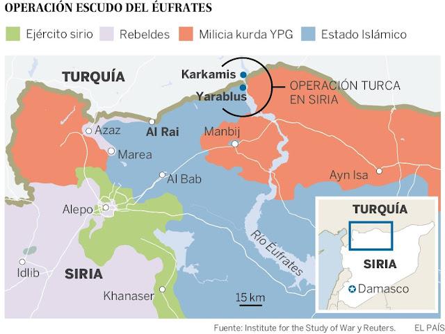 Turquía lanza ofensiva en Siria