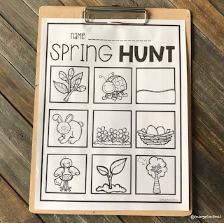 conversations from the classroom Spring Hunt Preschool Activity