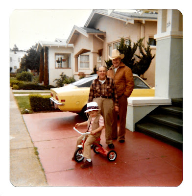 Frank Russell and Alex Brooks on Ramona Avenue in Piedmont, California in 1980