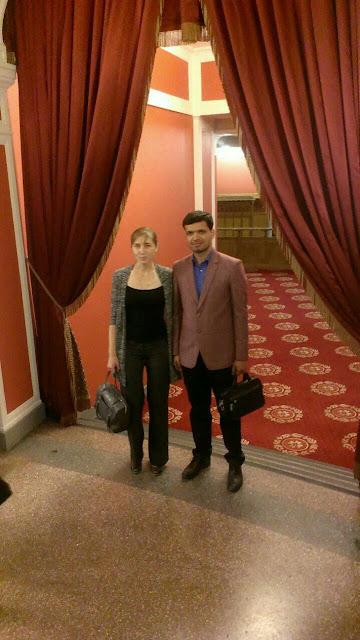 С Анной в Новосибирске. Четан и Анна в России.