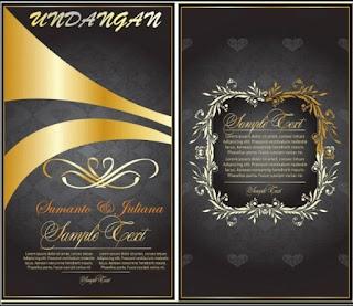 contoh gambar undangan pernikahan islami