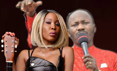 Stephanie Otobo and Apostle Johnson Suleman