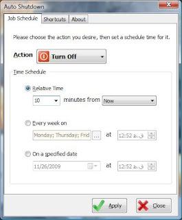 Download Software Auto Shutdown 1.0