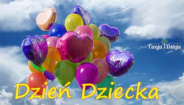 dzień dziecka, balon, serce, radość, dziecko, rodzic, mama, tata