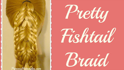Braided edge reverse banded fishtail braid video tutorial