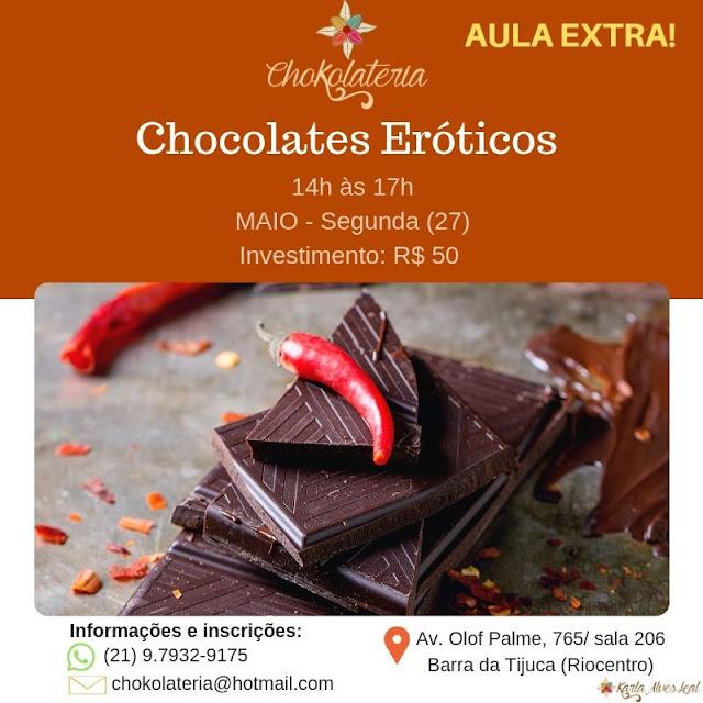 Curso de Chocolates Eróticos - Chokolateria Maio 2019