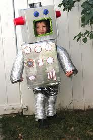 Robot hecho de cartón
