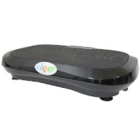 Ultraslim Black Crazy Fit Full Body Vibration Platform Massage Fitness Machine, portable, 200 watt, 3600 rpm motor, 30 speed levels, 0-10mm amplitude, 0-18 reps/S frequency