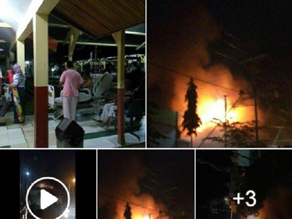 Detik-Detik Kebakaran Sei Ayak dan Singkawang, Warganet Publikasi di Facebook