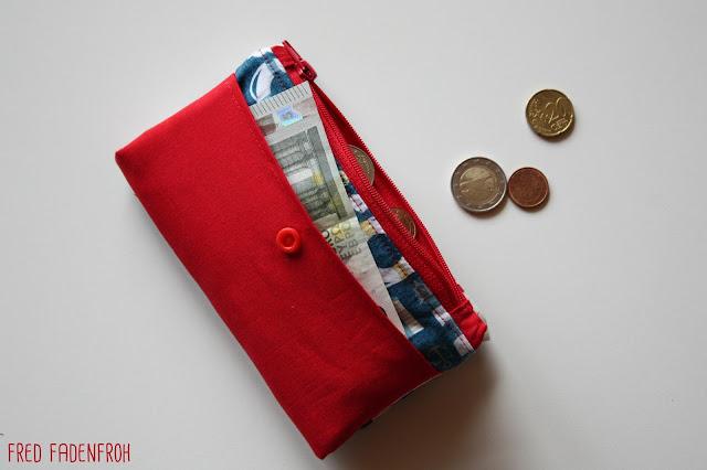 Geldbörse; nähen; maritim; Geldstück; Zwergstücke