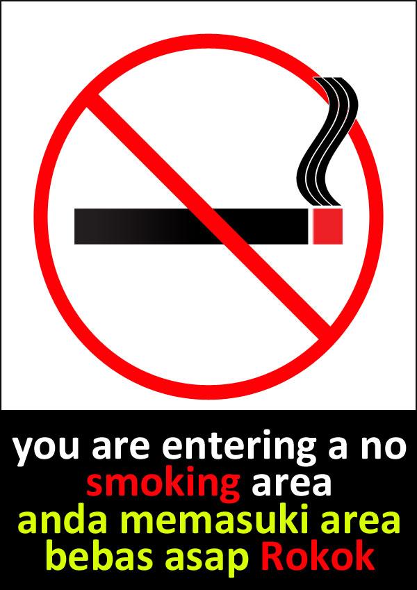 5 Contoh Poster Dilarang Merokok Populer | Tato Dan Poster