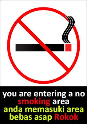 Gambar Contoh Poster Dilarang Merokok
