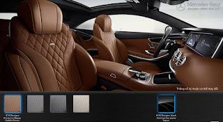 Nội thất Mercedes S400 4MATIC Coupe 2017 màu Nâu Saddle 974