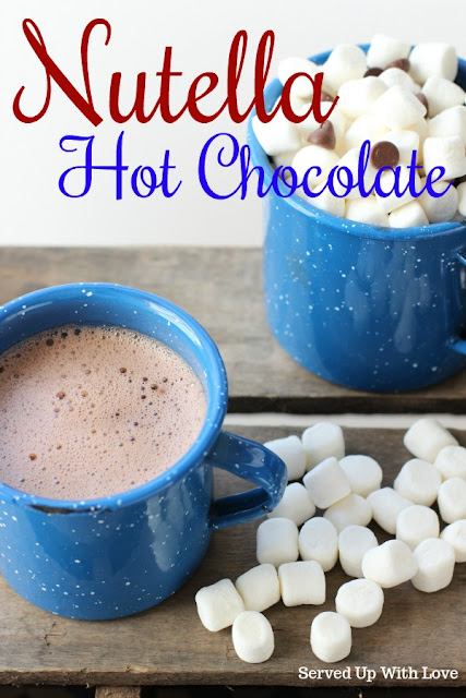 Nutella Hot Chocolate recipe from Served Up With Love will make you feel all warm and cozy.