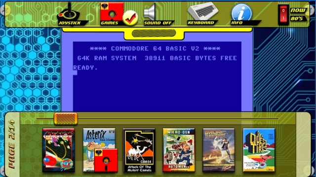 Δωρεάν Emulator για τον Commodore 64 με πάνω από 80 παιχνίδια