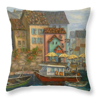Home Decor Tuscan Village Colorful Boats Village Italy