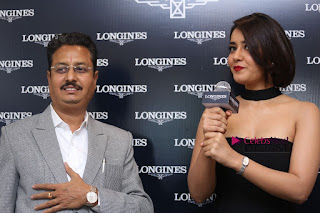 Actress Raashi Khanna Pictures in Black Dress at Longines Watches Launch  0249.JPG