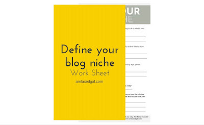 Free work sheet to define your blog niche | @arelaxedgal