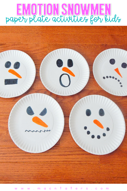 Emotion SNomen from paper plates