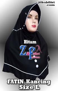 jilbab syar'i fatin kancing bahan kaos