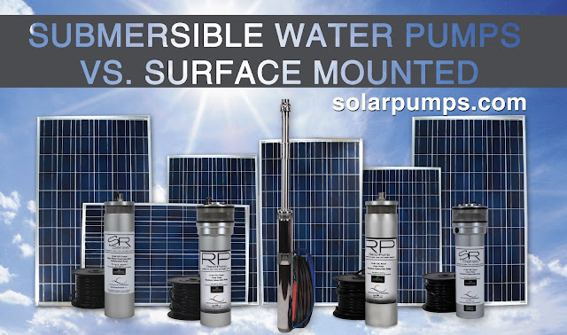 Advanced Power Inc.'s submersible vs surface mounted water pumps.