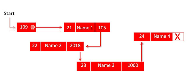 Singly linked list with two data fields