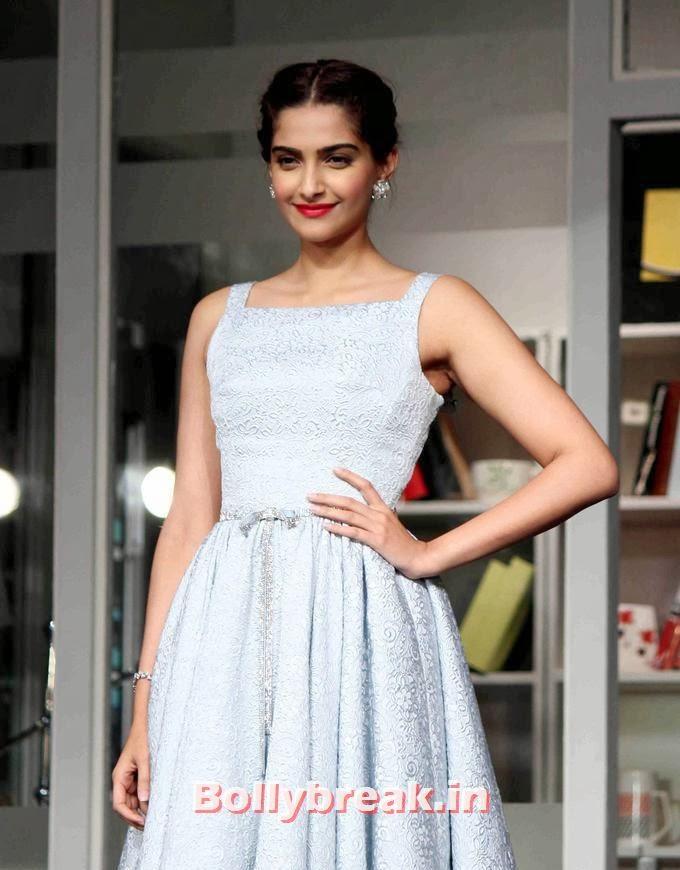 , Sonam Kapoor Promote movie Bewakoofiyaan in White Gown
