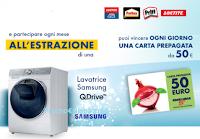 Logo Fai girare la tua creatività e con Henkel vinci 126 Card Esselunga 4 lavatrici Samsung QuickDrive