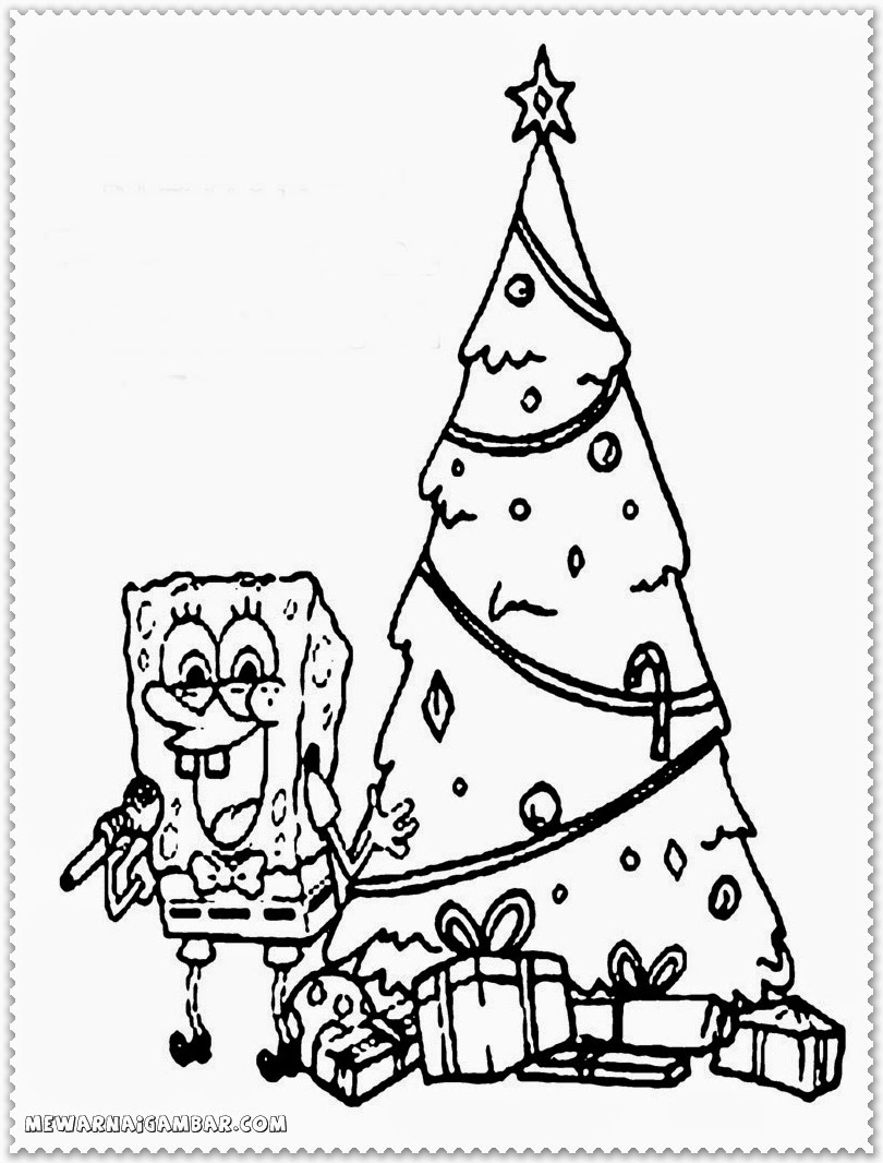Christmas Coloring Pages Spongebob