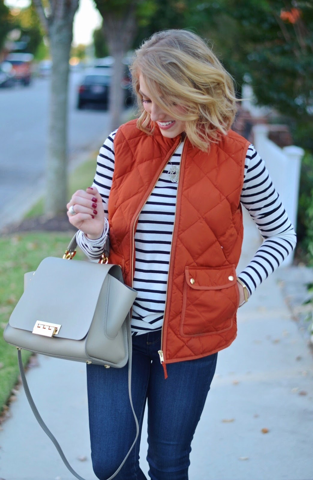 J.Crew Excursion Vest + Striped Tee
