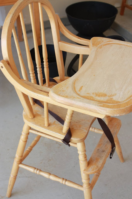 Before and After: Pippo's High Chair
