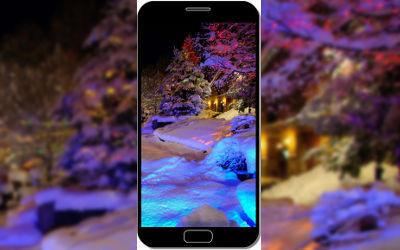 Chalet de Noël - Fond d'Écran en QHD pour Mobile