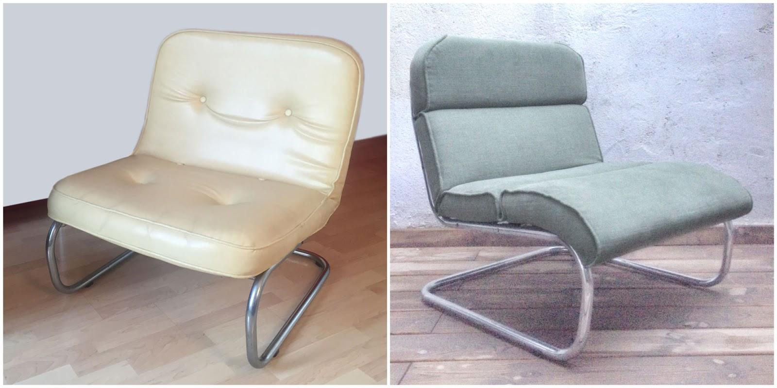Antes y después - Un sillón retapizado
