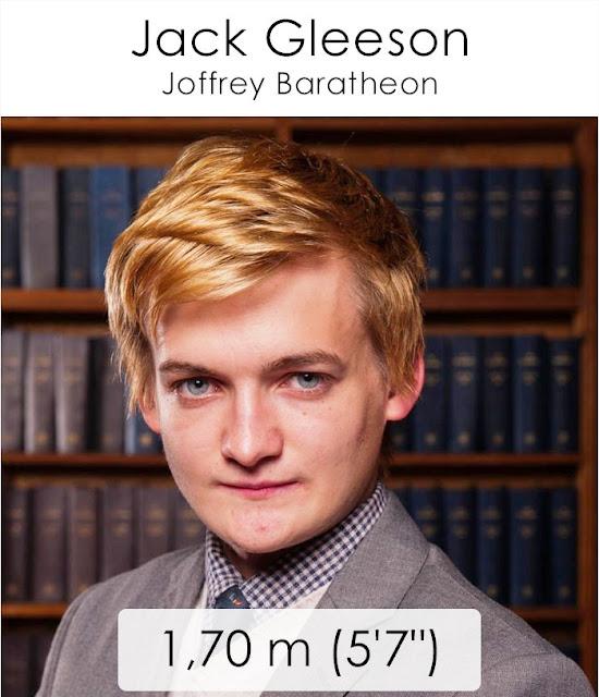 Jack Gleeson (Joffrey Baratheon) 1.70 m