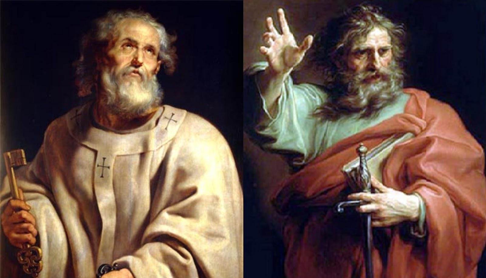 Santo De Hoy Pedro Y Pablo Santos Apóstoles Y Mártires