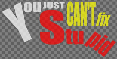 You Just Can't Fix Stupid fabric by eSheep Designs
