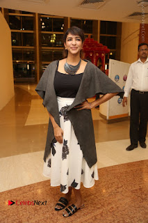 Actress Lakshmi Manchu Pos at Asian Para Badminton Championship Winners Felicitation Ceremony  0067.JPG
