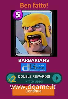 Soluzioni Quiz Clash Royale card livello 1