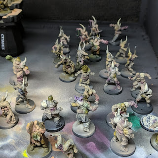 Walkers after airbrushing stages