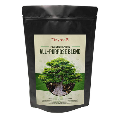 All purpose blend premium bonsai soil by tinyroots made in the USA