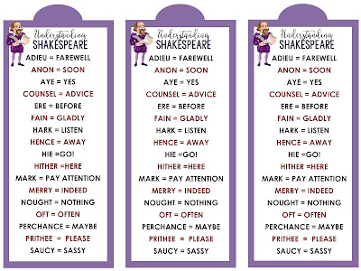 Free Understanding Shakespeare Bookmarks!
