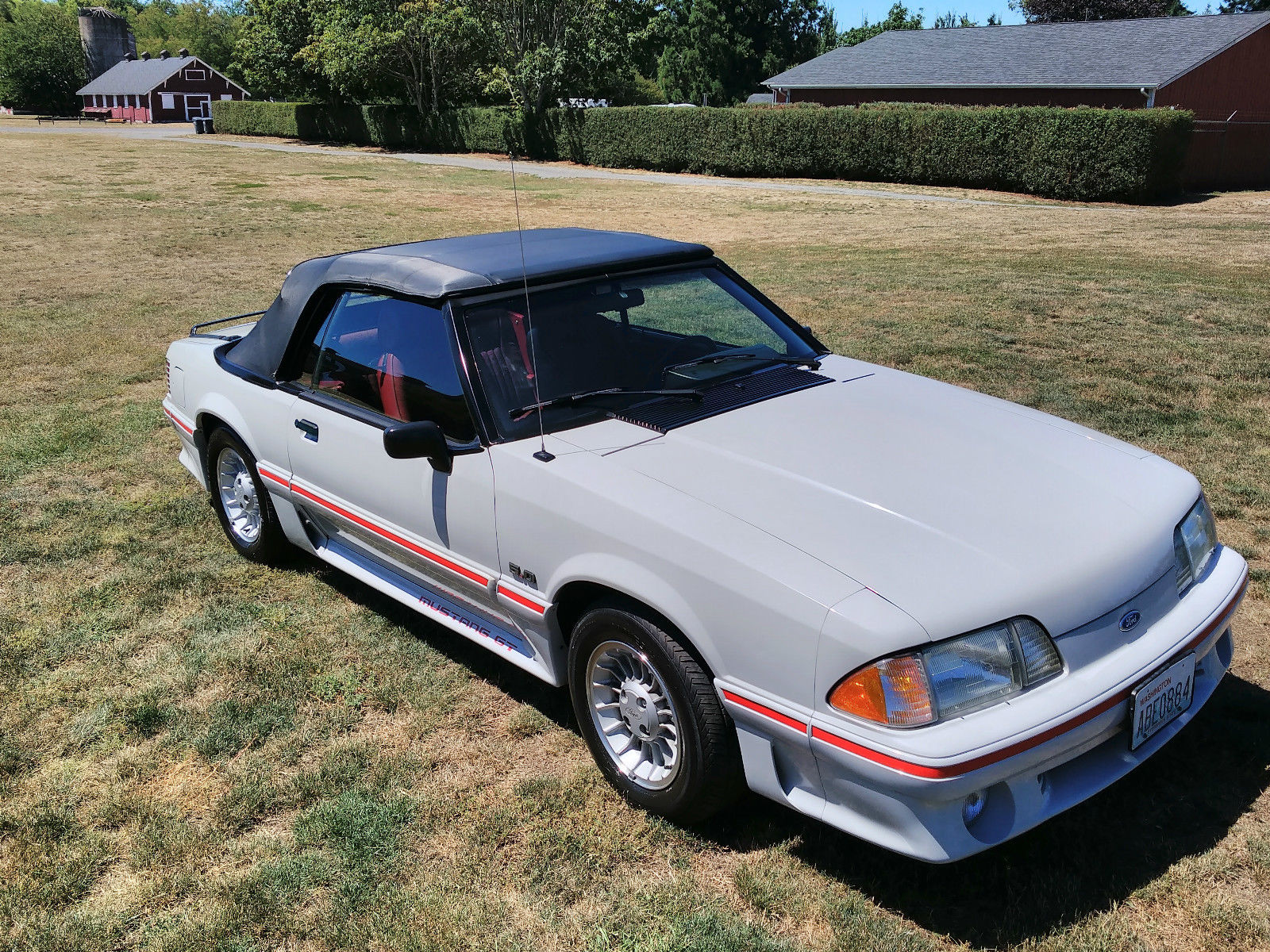 Mustang Red 1989 Gt 5 0