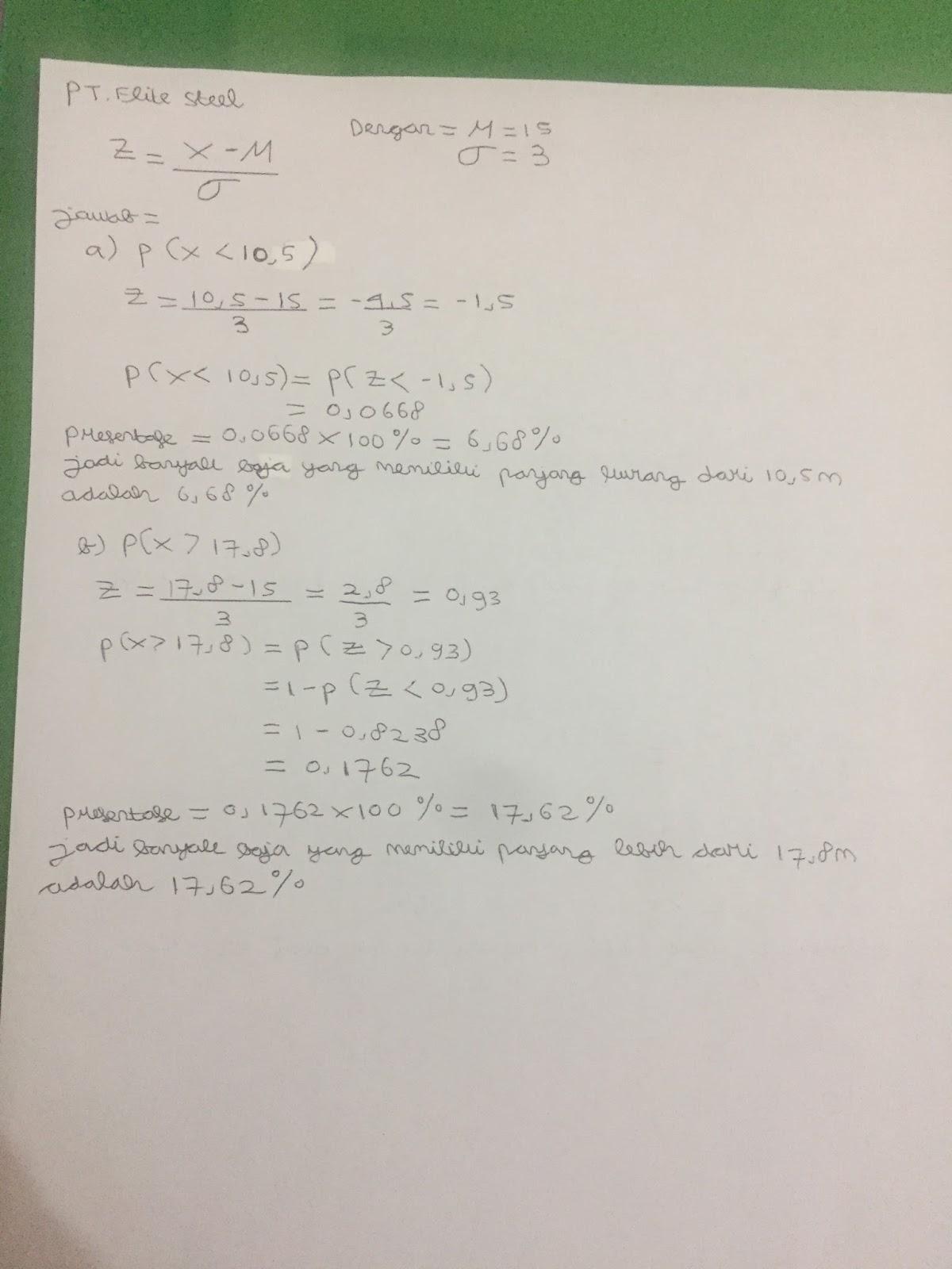 The thirty one blog juni 2017 post test teori probabilitas distribusi kontinyu ccuart Image collections