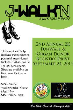 J-Walk'n Organ Donor Registry Drive & Walk