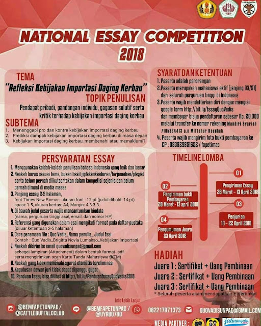 Lomba National Essay Competition Mahasiswa 2018 UNPAD