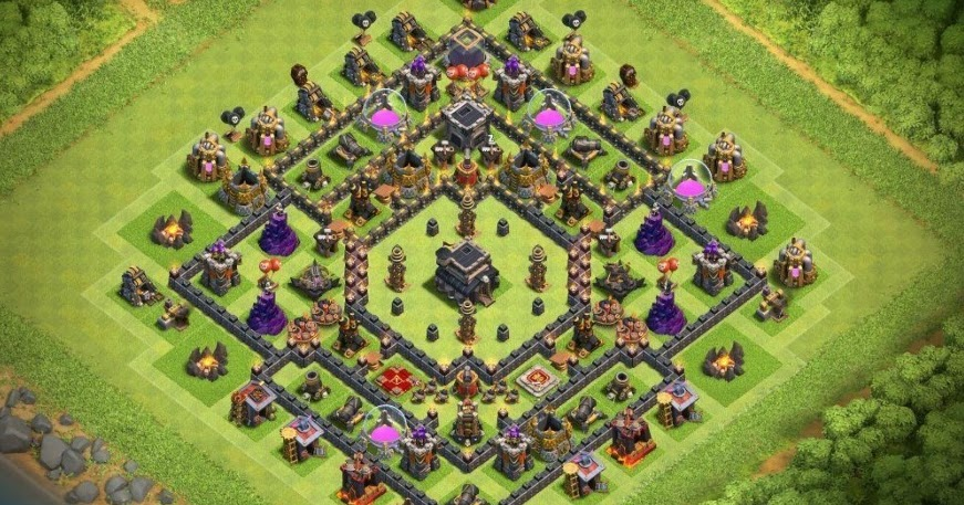 Base Coc Th 9 Max Terkuat 6