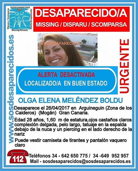 Localizada buen estado joven desaparecida Arguineguín