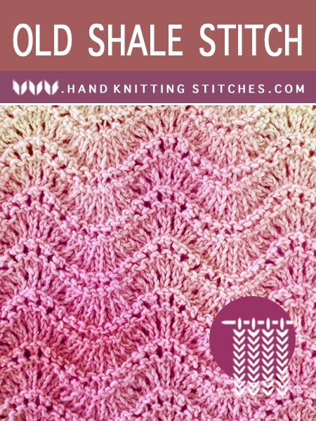 East #KnittingPattern - Old Shale Lace Pattern