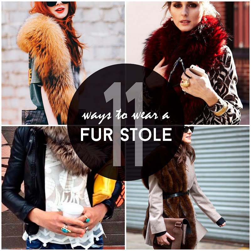 INSPIRATION | 11 WAYS TO WEAR A FUR STOLE