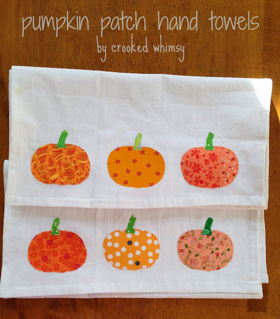 Add a little festivity to your kitchen with these fun pumpkin patch free applique patterns for your kitchen towels.